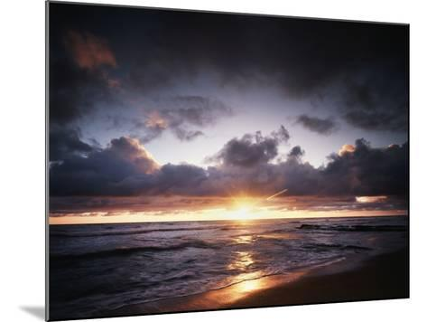 California, San Diego, Sunset over a Beach and Waves on the Ocean-Christopher Talbot Frank-Mounted Photographic Print