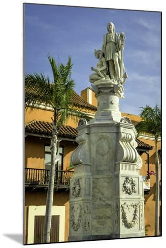 Statue of Christopher Columbus, Old City, Cartagena, Colombia-Jerry Ginsberg-Mounted Photographic Print
