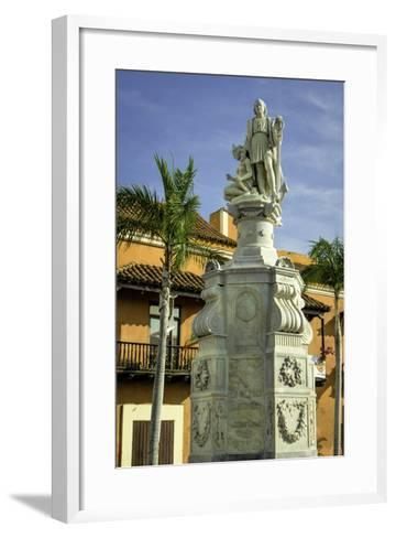 Statue of Christopher Columbus, Old City, Cartagena, Colombia-Jerry Ginsberg-Framed Art Print