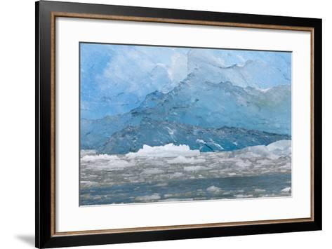 USA, Alaska, Endicott Arm. Blue Ice and Icebergs-Don Paulson-Framed Art Print
