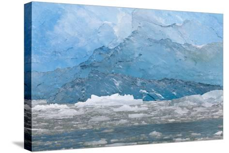 USA, Alaska, Endicott Arm. Blue Ice and Icebergs-Don Paulson-Stretched Canvas Print