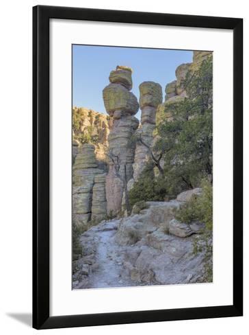 USA, Arizona, Chiricahua National Monument. Eroded Rock Formations-Don Paulson-Framed Art Print