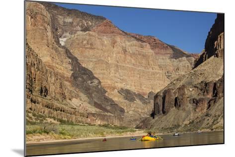 USA, Arizona, Grand Canyon National Park. Kayakers on Colorado River-Don Grall-Mounted Photographic Print