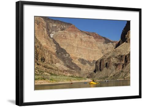USA, Arizona, Grand Canyon National Park. Kayakers on Colorado River-Don Grall-Framed Art Print