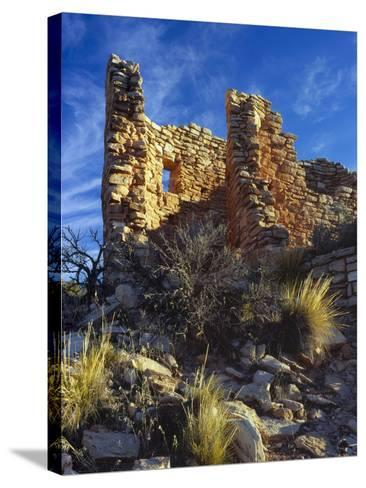 Ruins Cutthroat Castle. Ancestral Puebloan. Hovenweep NM, Colorado-Scott T^ Smith-Stretched Canvas Print