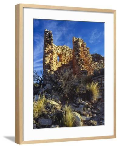 Ruins Cutthroat Castle. Ancestral Puebloan. Hovenweep NM, Colorado-Scott T^ Smith-Framed Art Print