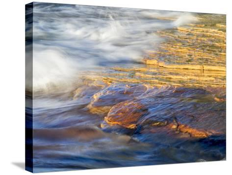 Michigan, Upper Peninsula. Sandstone on the Shore of Lake Superior-Julie Eggers-Stretched Canvas Print