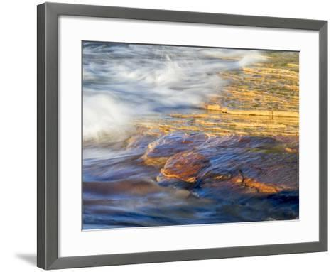 Michigan, Upper Peninsula. Sandstone on the Shore of Lake Superior-Julie Eggers-Framed Art Print