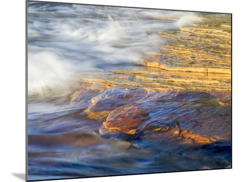 Michigan, Upper Peninsula. Sandstone on the Shore of Lake Superior-Julie Eggers-Mounted Photographic Print