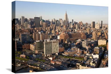 Empire State Building and Midtown Manhattan, New York, USA-Peter Adams-Stretched Canvas Print