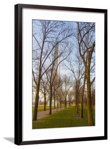 The Gateway Arch in St. Louis, Missouri. Jefferson National Memorial-Jerry & Marcy Monkman-Framed Art Print