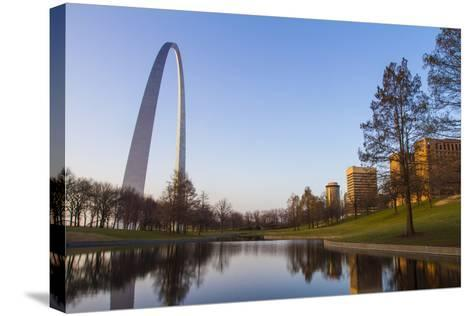 The Gateway Arch in St. Louis, Missouri. Jefferson National Memorial-Jerry & Marcy Monkman-Stretched Canvas Print