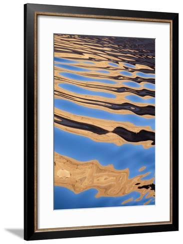 USA, Utah, Glen Canyon National Recreation Area. Boat Wake Patterns-Don Paulson-Framed Art Print