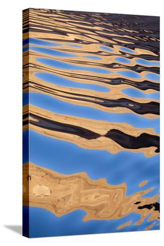 USA, Utah, Glen Canyon National Recreation Area. Boat Wake Patterns-Don Paulson-Stretched Canvas Print
