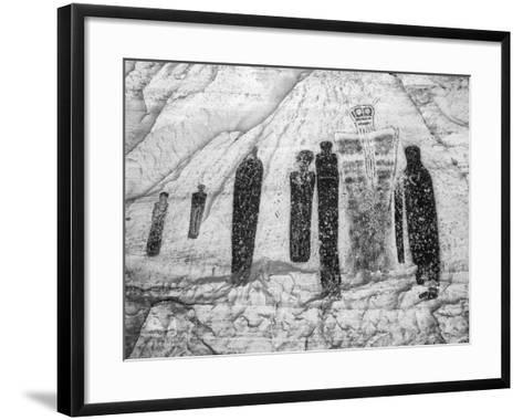 USA, Utah, Canyonlands NP. Pictographs in Horseshoe Canyon-Dennis Flaherty-Framed Art Print