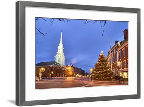 The North Church and Market Square, Portsmouth, New Hampshire-Jerry & Marcy Monkman-Framed Art Print