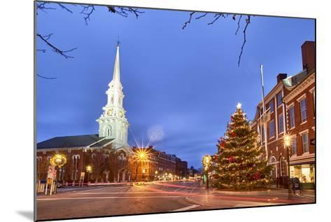 The North Church and Market Square, Portsmouth, New Hampshire-Jerry & Marcy Monkman-Mounted Photographic Print