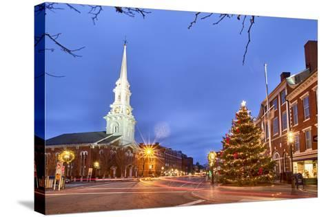 The North Church and Market Square, Portsmouth, New Hampshire-Jerry & Marcy Monkman-Stretched Canvas Print