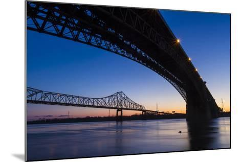 Bridges over the Mississippi River at Dawn in St. Louis, Missouri-Jerry & Marcy Monkman-Mounted Photographic Print