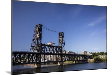 Oregon, Portland. Steel Bridge Spans the Willamette River-Brent Bergherm-Mounted Photographic Print