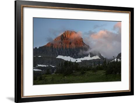 USA, Montana, Glacier National Park. Sunrise on Reynolds Mountain-Don Grall-Framed Art Print