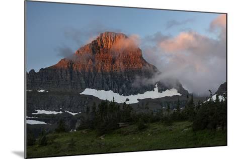 USA, Montana, Glacier National Park. Sunrise on Reynolds Mountain-Don Grall-Mounted Photographic Print