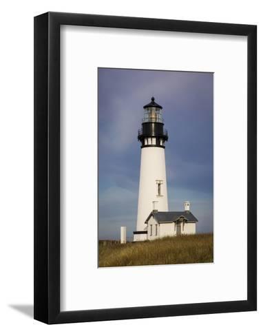 Yaquina Head Lighthouse, Newport, Oregon, USA-Brian Jannsen-Framed Art Print