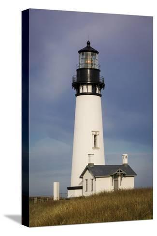 Yaquina Head Lighthouse, Newport, Oregon, USA-Brian Jannsen-Stretched Canvas Print