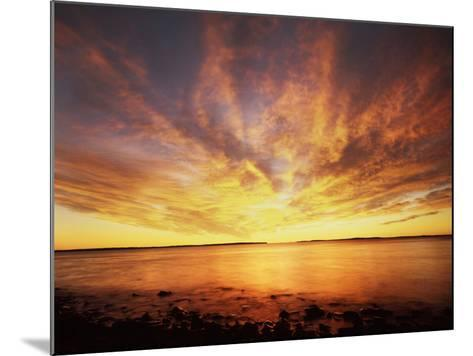USA, Maine, Acadia National Park, Sunrise over the Atlantic Ocean-Christopher Talbot Frank-Mounted Photographic Print