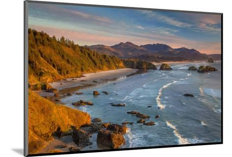 Sunset over the Coastline Near Cannon Beach, Oregon, USA-Brian Jannsen-Mounted Photographic Print