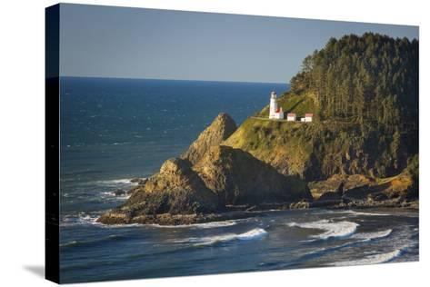 Heceta Head Lighthouse Along the Oregon Coast, USA-Brian Jannsen-Stretched Canvas Print