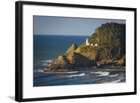Heceta Head Lighthouse Along the Oregon Coast, USA-Brian Jannsen-Framed Art Print