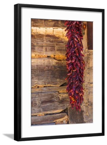 USA, New Mexico, Pinos Altos. Ristas Hung to Dry-Don Paulson-Framed Art Print