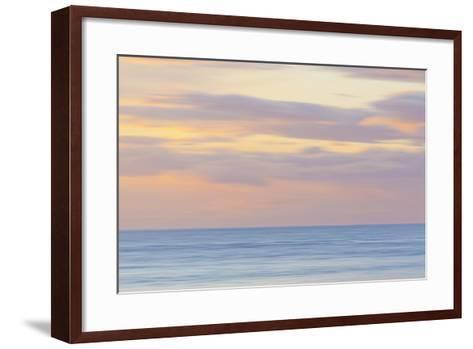 USA, Washington State, San Juan Islands. Abstract Sunset Scenic-Don Paulson-Framed Art Print