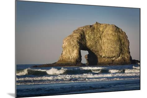 Sunrise over One of the Twin Rocks, Near Rockaway, Oregon, USA-Brian Jannsen-Mounted Photographic Print