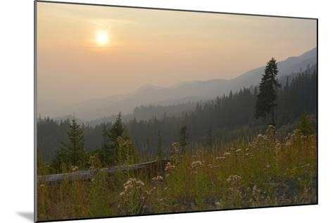 Washington, Wenatchee NF, Overlook with Smoky Sky from Wild Fires-Savanah Stewart-Mounted Photographic Print