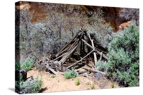 Double Stack Anasazi Ruin in Butler Wash, Cedar Mesa, Utah-Richard Wright-Stretched Canvas Print