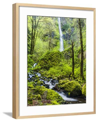 Oregon, Wahkeena Falls. Located Along I-84, the Columbia River Gorge-Richard Duval-Framed Art Print