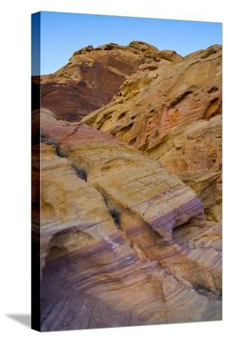 Pink Canyon, Valley of Fire State Park, Overton, Nevada, USA-Michel Hersen-Stretched Canvas Print