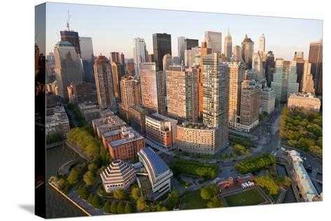 Lower Manhattan, Financial District, New York, USA-Peter Adams-Stretched Canvas Print
