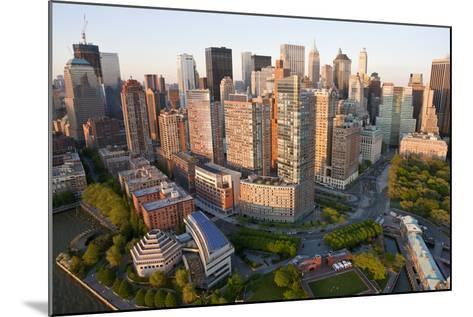 Lower Manhattan, Financial District, New York, USA-Peter Adams-Mounted Photographic Print