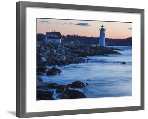 Portsmouth Harbor Lighthouse in New Castle, New Hampshire. Dawn-Jerry & Marcy Monkman-Framed Art Print