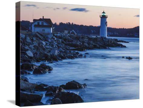 Portsmouth Harbor Lighthouse in New Castle, New Hampshire. Dawn-Jerry & Marcy Monkman-Stretched Canvas Print
