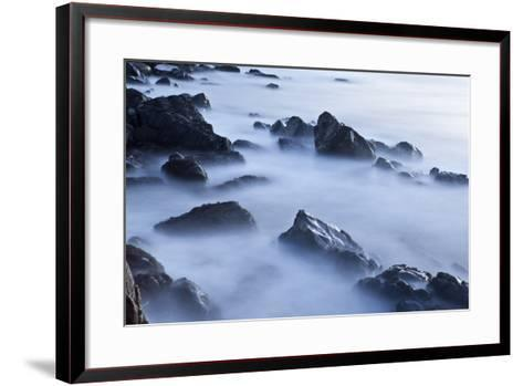 Rocks and Surf at Wallis Sands State Park in Rye, New Hampshire-Jerry & Marcy Monkman-Framed Art Print