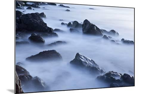 Rocks and Surf at Wallis Sands State Park in Rye, New Hampshire-Jerry & Marcy Monkman-Mounted Photographic Print