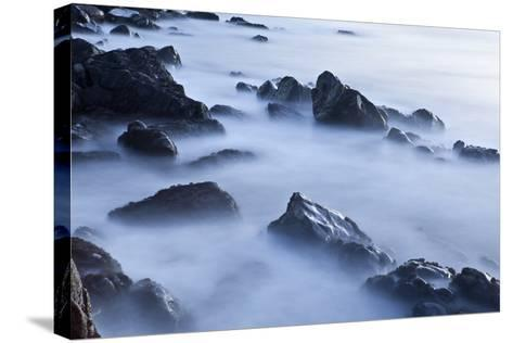 Rocks and Surf at Wallis Sands State Park in Rye, New Hampshire-Jerry & Marcy Monkman-Stretched Canvas Print
