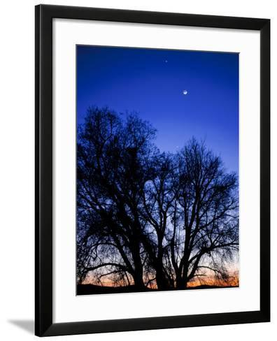 Utah. Venus, the Moon, and Jupiter in a Compact Grouping in the Sky-Scott T^ Smith-Framed Art Print