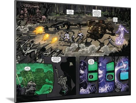 Zombies vs. Robots: Volume 1 - Page Spread with Panels-Anthony Diecidue-Mounted Art Print
