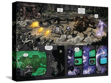Zombies vs. Robots: Volume 1 - Page Spread with Panels-Anthony Diecidue-Stretched Canvas Print