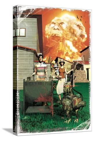 Zombies vs. Robots: More Than a Junkyard Dog-Fabio Listrani-Stretched Canvas Print